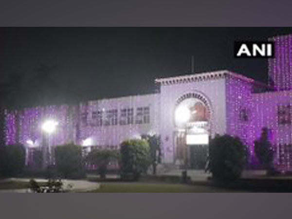 A visual of one of the buildings of Aligarh Muslim University. [Photo/ANI]