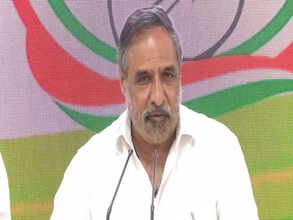Congress leader Anand Sharma addressing a media briefing in Delhi on Tuesday.
