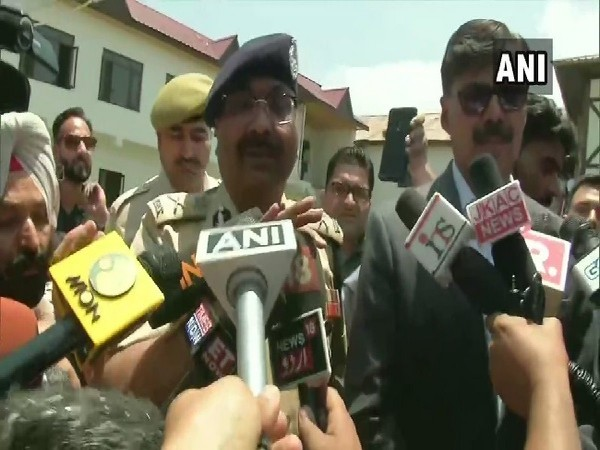 Jammu and Kashmir DGP Dilbag Singh speaking to media in Anantnag on June 17. Photo/ANI