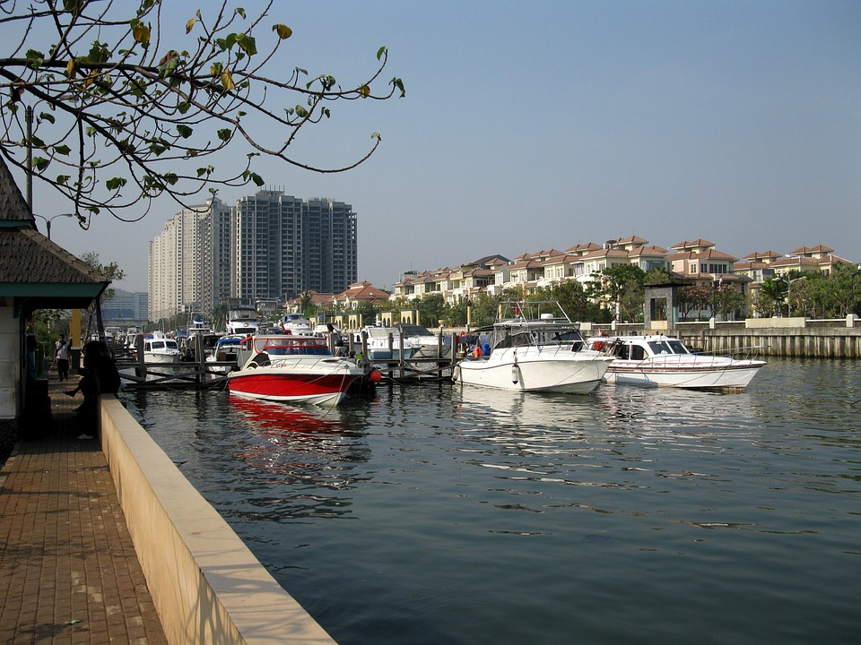 Ancol harbour in Jakarta, Indonesia