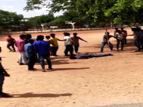 Visuals from the clash which resulted in boy slipping into coma. Photo/ANI