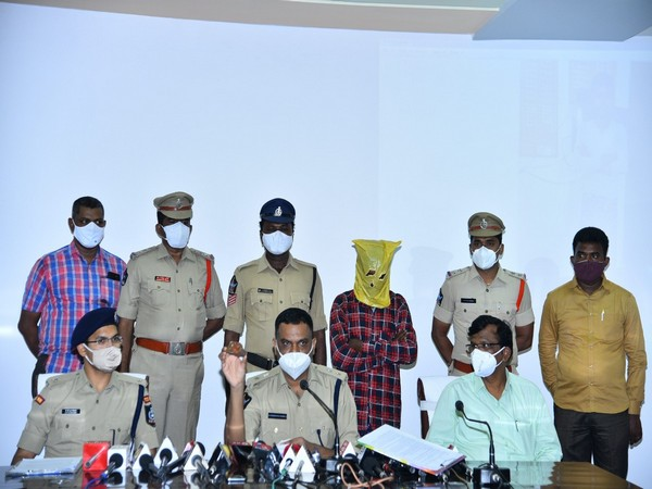 A visual of the police with the arrested accused in Andhra Pradesh.