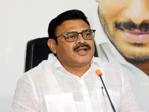 YSRCP senior leader and MLA Ambati Rambabu at a press conference.