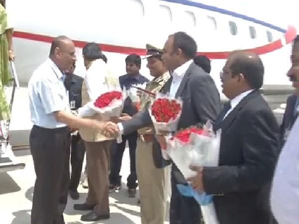 Andhra Pradesh and Telangana Governor ESL Narasimhan in Vijayawada on Wednesday Photo/ANI.