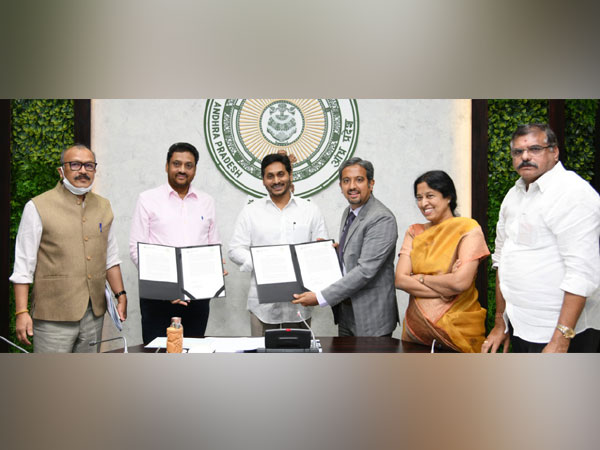 Andhra Pradesh Chief Minister YS Jagan Mohan Reddy at the MoU signing.