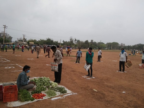 Visual from a vegetable market in Vizianagaram district.