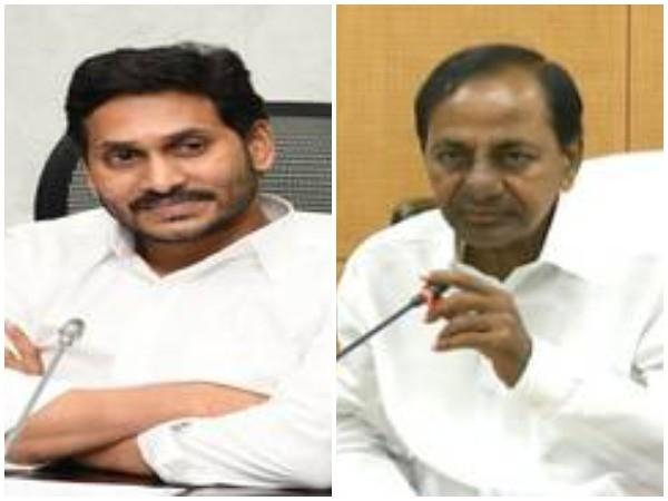 Andhra Pradesh CM YS Jagan Mohan Reddy (left) and Telangana CM K Chandrashekar Rao (right)