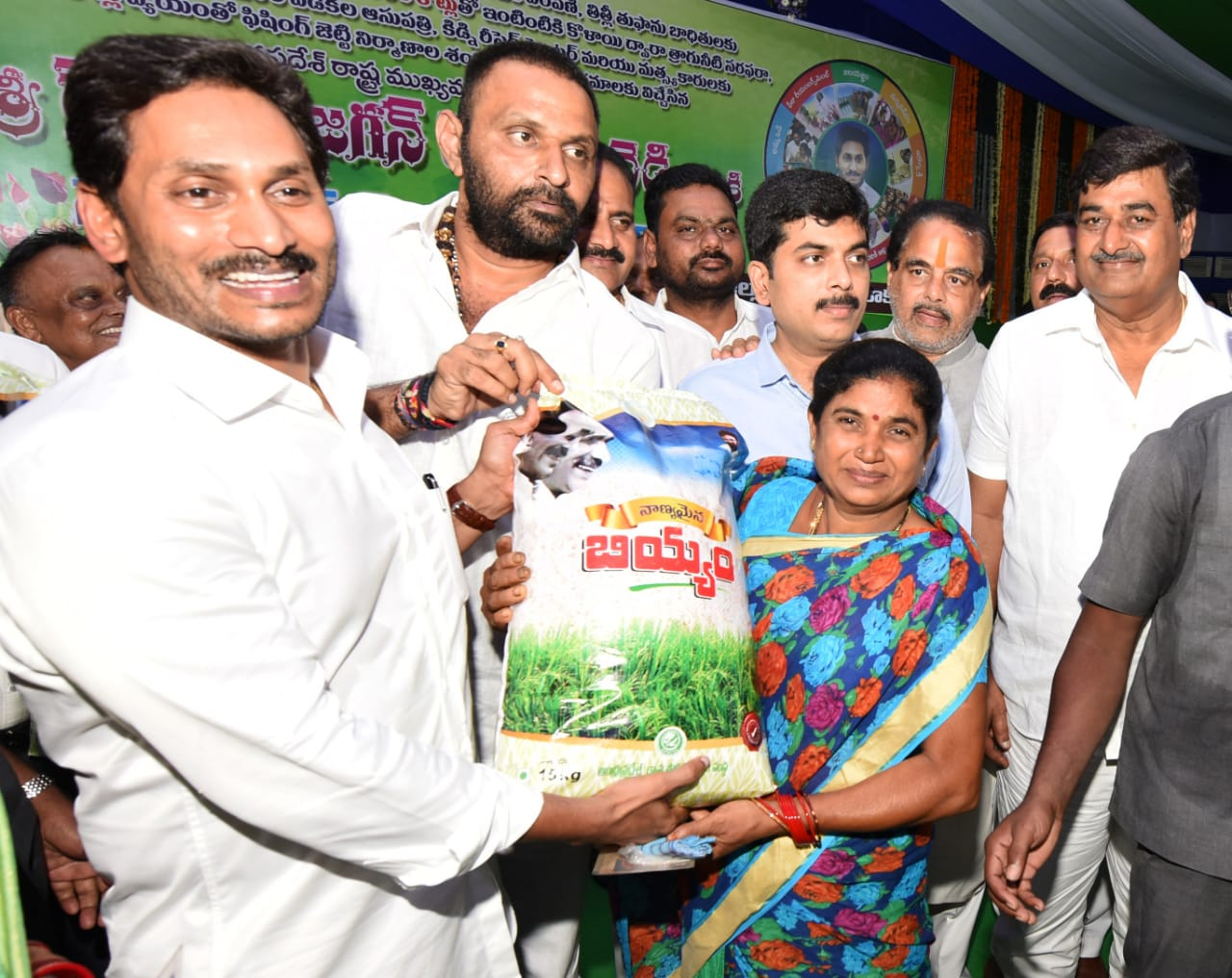 Chief Minister YS Jagan Mohan Reddy at an event in Srikakulam on Friday. Photo/ANI