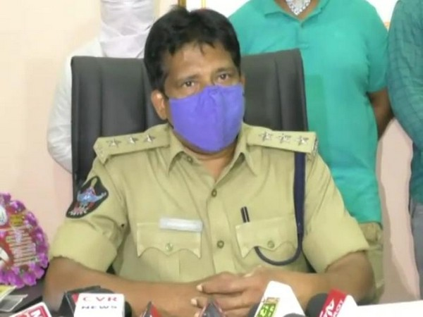 DSP Veeranjaneya Reddy while speaking to media. (Photo/ANI)