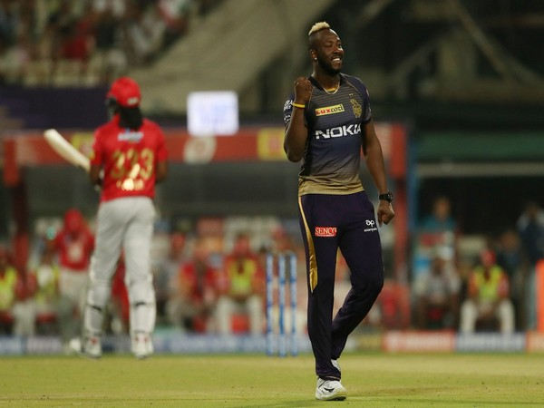 Fast bowler Andre Russell (Photo/ KKR Twitter)