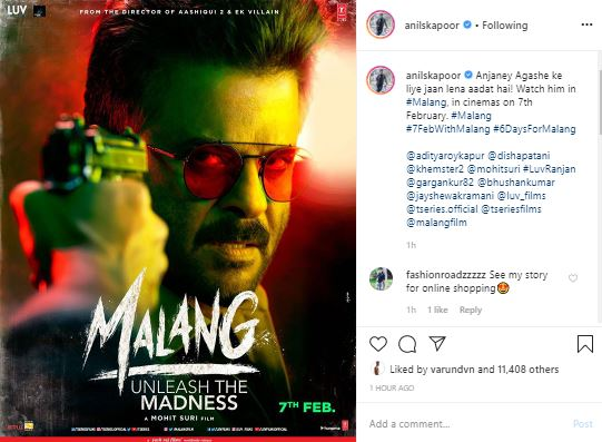 Anil Kapoor Shares Intriguing Poster Of Malang