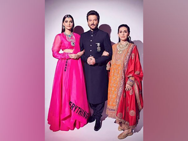 Sonam Kapoor, Anil Kapoor and Sunita Kapoor, Image courtesy: Instagram