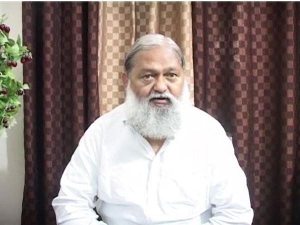 Haryana Home Minister Anij Vij (File photo)