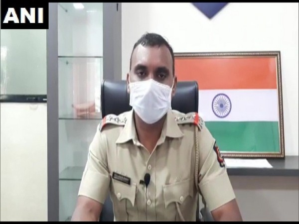Assistant inspector Shrirang Gosavi, Nallasopara police station speaking to ANI on Monday. (Photo/ANI)