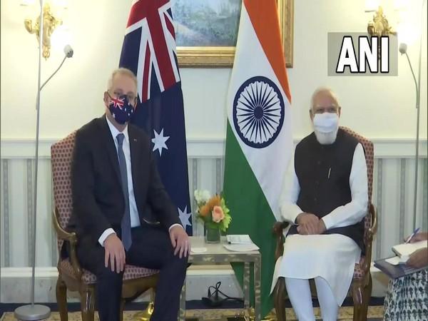 Prime Minister Narendra Modi with his Australian counterpart Scott Morrison.