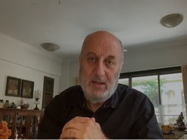 Film actor Anupam Kher in the video message. Photo/ANI