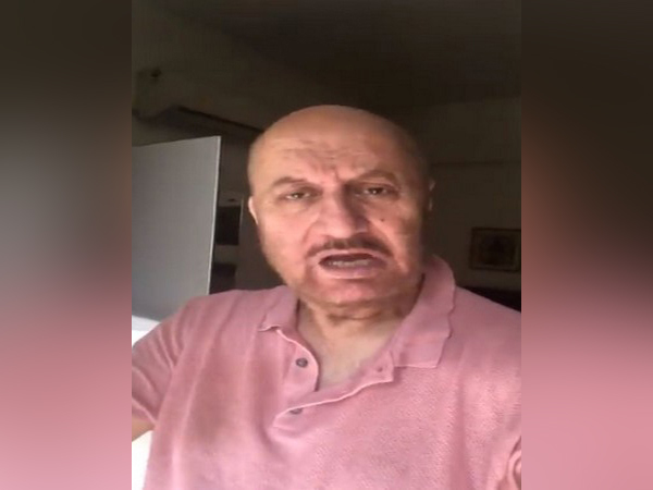 A still from the video shared by actor Anupam Kher (Image courtesy: Twitter)