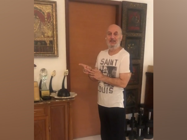 A still from the video shared by actor Anupam Kher (Image source: Instagram)