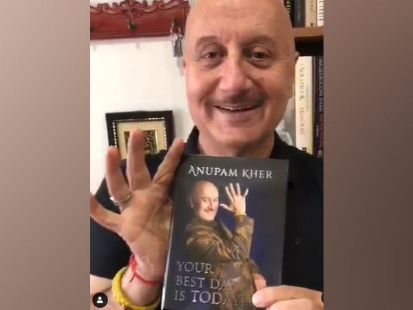 Aupam Kher with his book You Best Day Is Today (Image Source: Instagram)