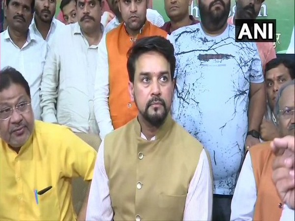 Union Minister of State for Finance, Anurag Thakur speaking to media on Monday.