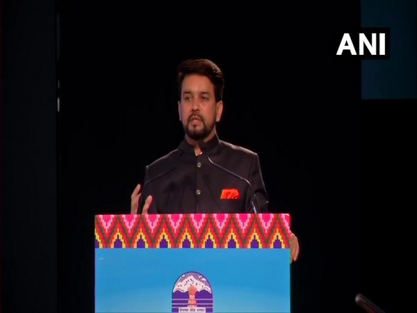 Union Minister Anurag Thakur speaking at an event on Friday. Photo/ANI