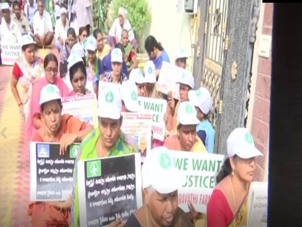 Andhra Pradesh protests enter 25th day against 3-capital proposal. Photo/ANI