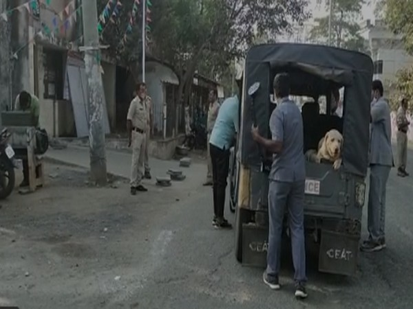 Nidadavole police at the spot with bomb squad team (Photo/ ANI)