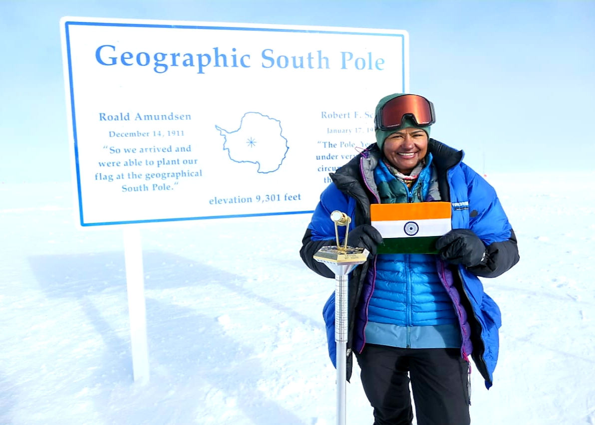 Aparna Kumar, the first woman IPS DIG and ITBP officer after successfully completing the South Pole expedition