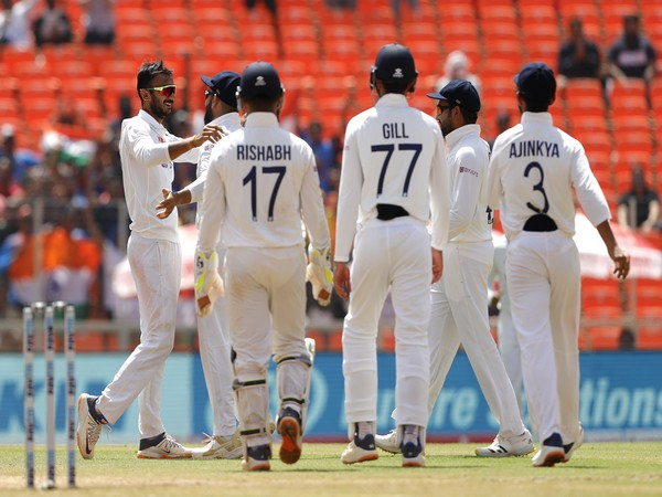 Indian players celebrate after dismissing Ben Stokes. (Photo/ BCCI Twitter)