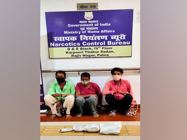 Patna zonal unit of NCB arrests three drug peddlers.