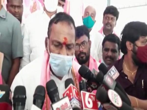 Telangana Labour and Employment Minister Malla Reddy. (Photo/ANI)