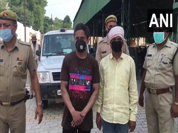 Accused at the police station in Meerut (Photo/ANI)