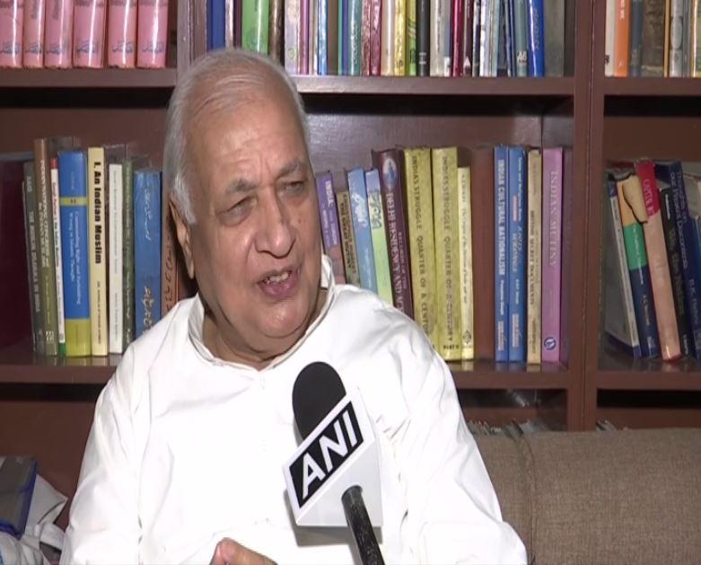 Arif Mohammad Khan speaking to ANI in New Delhi on Wednesday.