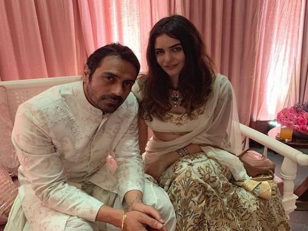 Arjun Rampal and Gabriella Demetriades, Image courtesy: Instagram