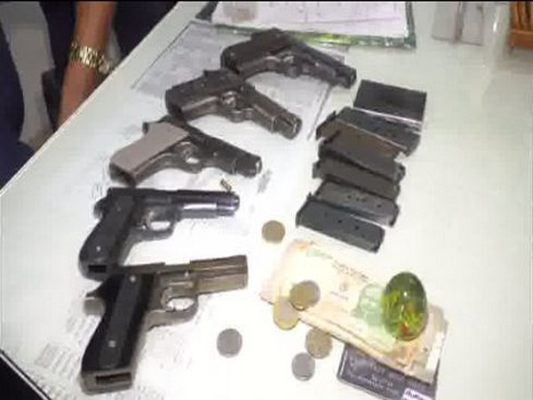 Weapons recovered from the arrested accuseds