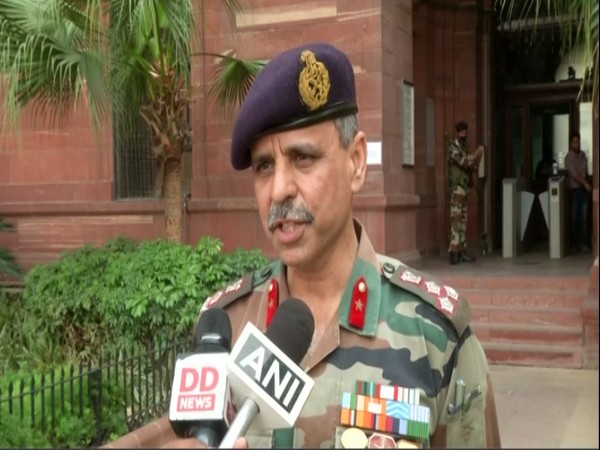Brigadier Anupam Sharma speaking to reporters in New Delhi on Friday. Photo/ANI