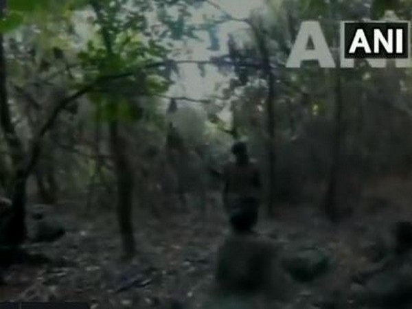 Pakistani troop movement near an Indian post captured by a camera.