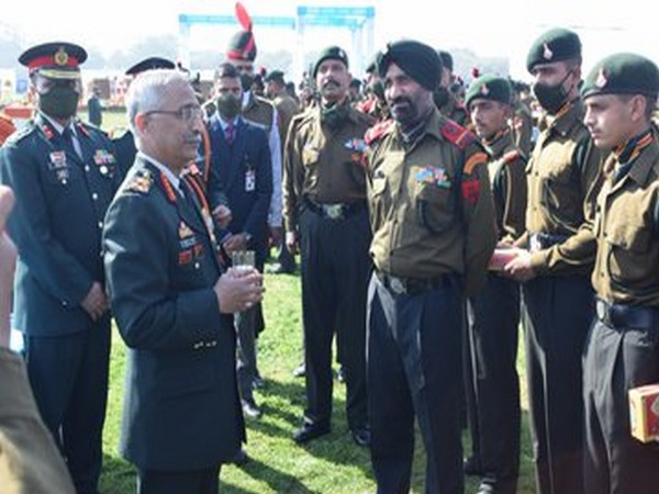 Army Chief General MM Naravane on Sunday felicitated all Contingents and participants of the Army Day and Republic Day Parade 2021.