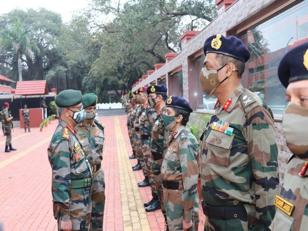The Chief of Army Staff, General MM Naravane on Friday visited the headquarters of Pune-based Southern Command. (Photo/ANI)