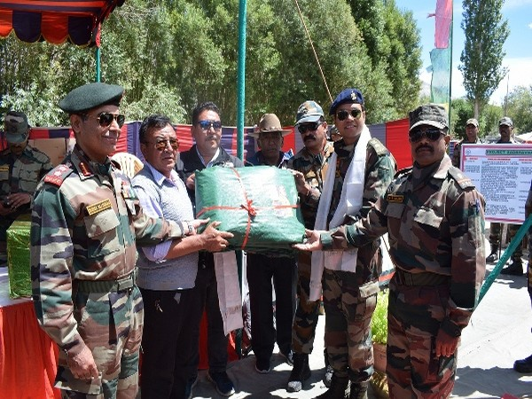 Visulas of Awam cum Ex-servicemen rally organized for the residents of Nubra and Shyok Valley on Sunday in Jammu and Kashmir. Photo/ANI
