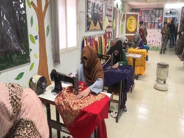 Indian army started 'women empowerment center' in Jammu and Kashmir. (Photo/ ANI)