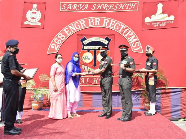 A felicitation ceremony for presenting the honour and cash prize for Rs  2,00,000 was held at 268 Engineer Bridge Regt (PMS) at Ambala Cantt on Saturday. (Photo: ANI)
