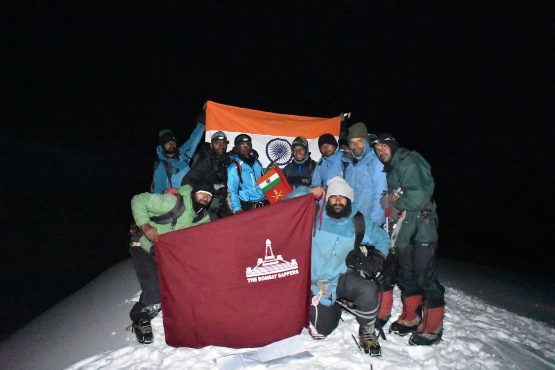 Indian Army team at Mount Balijuri