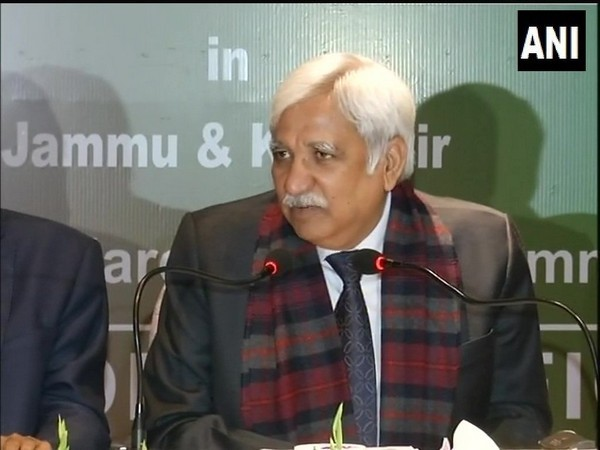 Chief Election Commissioner Sunil Arora addressing a press conference in Jammu on Tuesday.