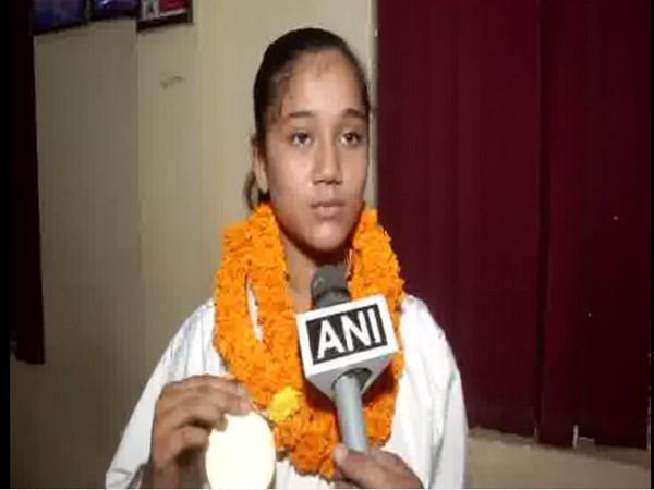 Arpita Singh, gold medalist, talking to ANI on Sunday.
