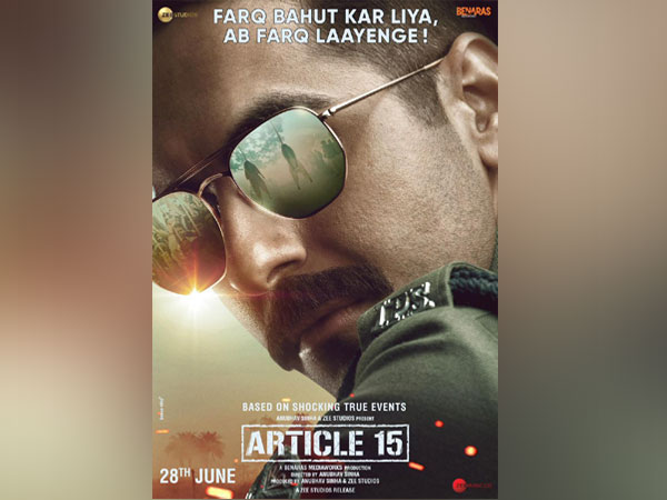 Poster of 'Article 15', Image courtesy: Instagram