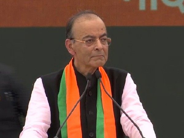 Finance Minister Arun Jaitley speaking in New Delhi (Photo/ANI)