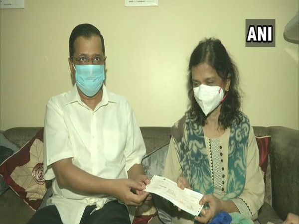 Delhi Chief Minister Arvind Kejriwal meets family of LNJP Hospital's Dr Aseem Gupta, who passed away due to COVID-19.