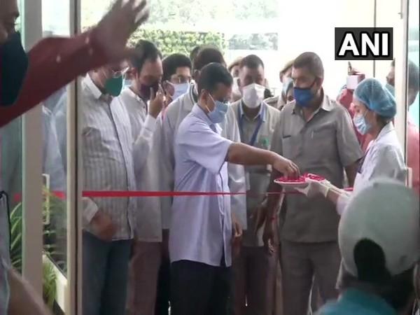 Delhi Chief Minister Arvind Kejriwal inaugurates 200 beds of Ambedkar Nagar Hospital today. (Photo/ANI)