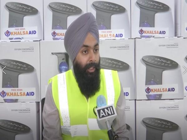 Amarpreet Singh, Director India, Khalsa Aid (Photo/ANI)